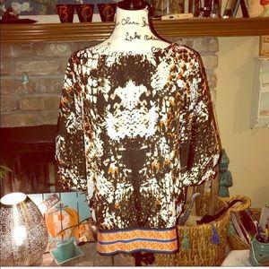ECI New York summer fabulous blouse Size XL